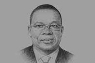Sketch of <p>Beyon Luc-Adolphe Tiao, Former Prime Minister of Burkina Faso</p>