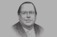 Sketch of <p>Julio Velarde, President, Central Reserve Bank of Peru</p>