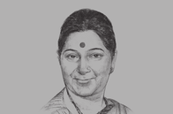 Sketch of <p>Sushma Swaraj, Minister of External Affairs of India&nbsp;</p>