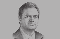 Sketch of <p>Axel van Trotsenburg, Vice-President for East Asia and the Pacific, World Bank</p>