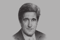 Sketch of <p>John Kerry, US Secretary of State</p>