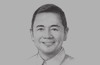 Sketch of <p>Albert S Garcia, Governor, Province of Bataan</p>
