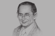 Sketch of <p>Majesty Bhumibol Adulyadej, King of Thailand</p>