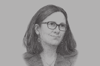 Sketch of <p>Cecilia Malmström, European Commissioner for Trade</p>