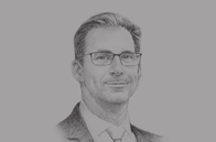 Sketch of <p>Tobias Ellwood, MP and Minister for the Middle East and North Africa, UK Foreign and Commonwealth Office</p>