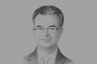 Sketch of <p>Slim Chaker, Minister of Finance</p>