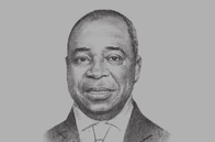 Sketch of <p>Pierre Moussa, President, CEMAC Commission</p>