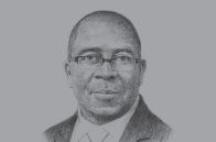 Sketch of <p>Nhlanhla Nene, Minister of Finance</p>